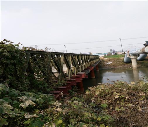 贝雷片钢便桥展示